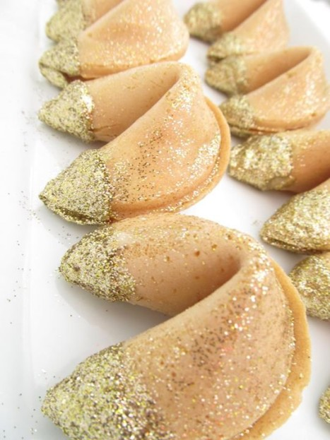 Glitter dipped fortune cookies EventHaus