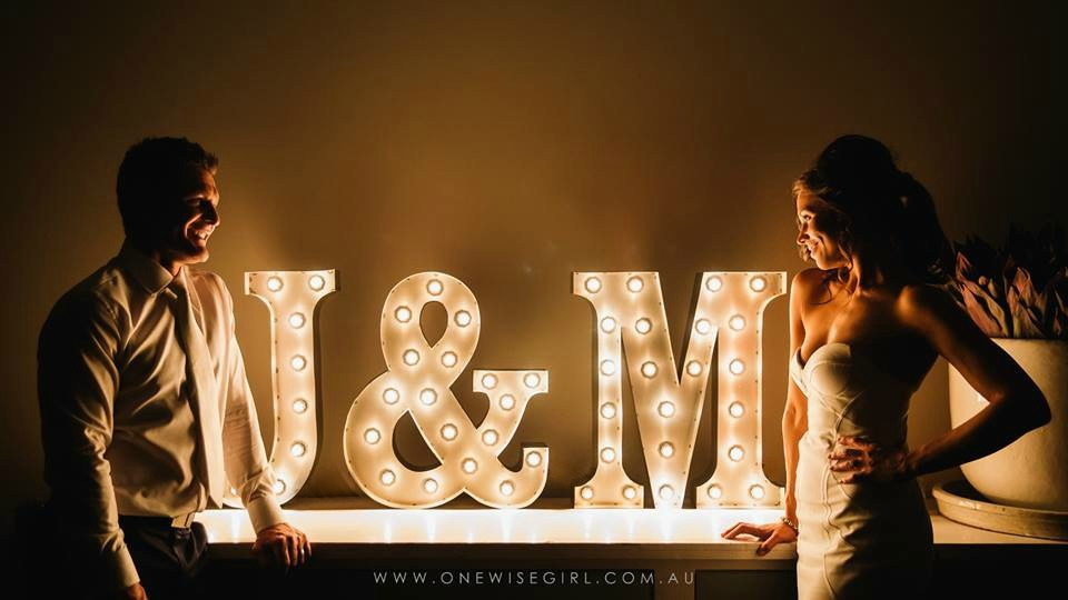 Your Name In Lights Sydney Wedding Planning Event Hire